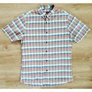 Katin Mens Multicolor Plaid Short Sleeve Shirt L